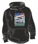 KOOLART AMERICAN MUSCLE CAR Design For Blue Retro 67 Chevy Camero SS Unisex Hoodie
